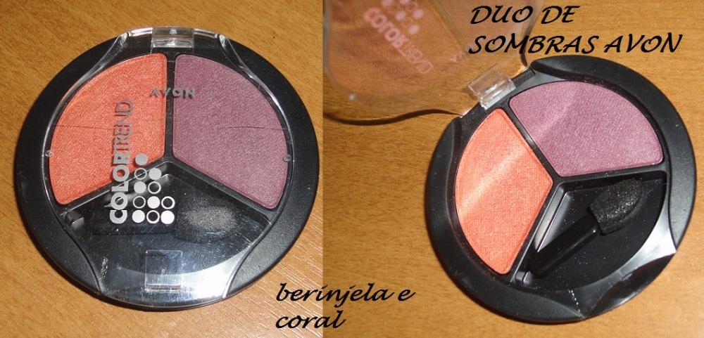 Duo de Sombras Avon Color Trend Berinjela / Coral - resenha, fotos e swatch (1/2)