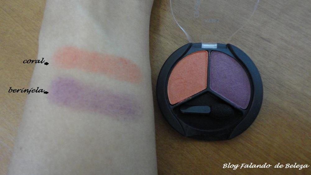 Duo de Sombras Avon Color Trend Berinjela / Coral - resenha, fotos e swatch (2/2)