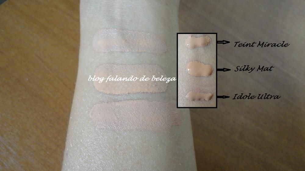 Comparando Bases da Lancôme: Teint Miracle, Teint Silky Mat e Teint Idole Ultra (2/2)