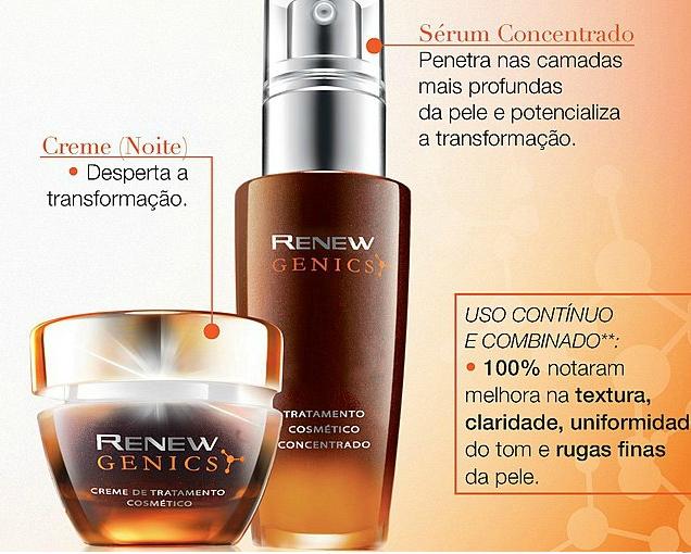 Avon lança Renew Genics: melhora na uniformidade da pele, textura, manchas e rugas. Um anti-idade para todas as idades. (2/3)