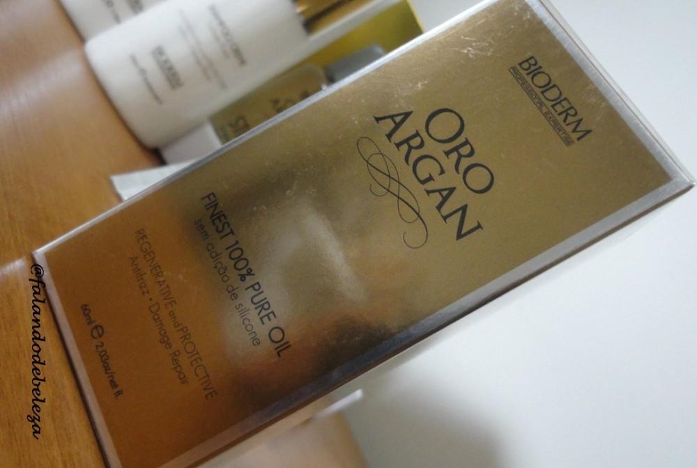 Novo sorteio no ar! Super kit para cabelos Bioderm, linha Oro Argan (2/3)