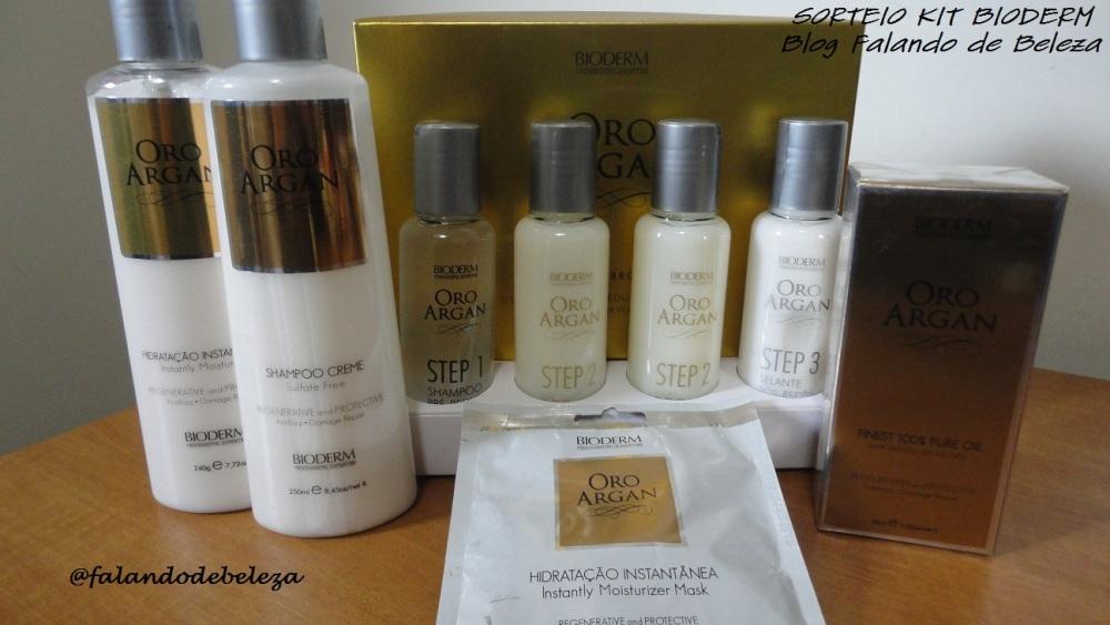 Novo sorteio no ar! Super kit para cabelos Bioderm, linha Oro Argan (1/3)