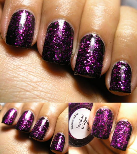 Awesome Bridge Over Black Purple Nails Inc London Design