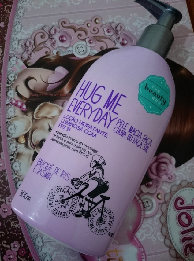 Loção Hidratante FPS15 Hug Me Everyday Buquê de Íris e Jasmin -  The Beauty Box