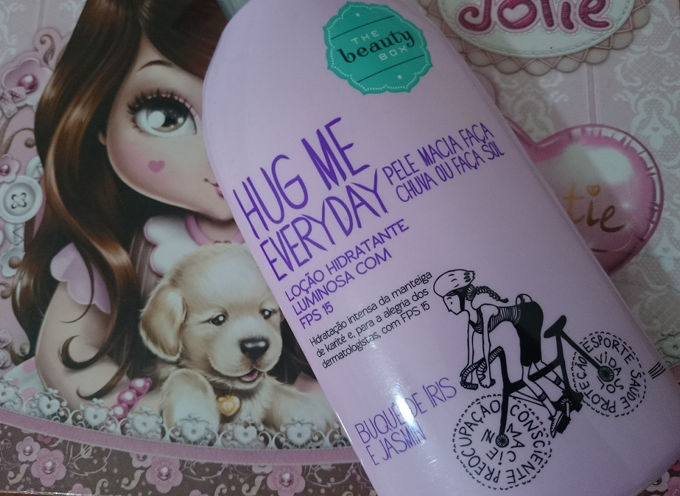 Loção Hidratante FPS15 Hug Me Everyday Íris e Jasmin -  The Beauty Box