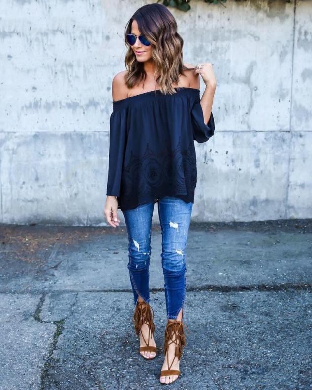 look-inspiração-jeans-ombros-de-fora