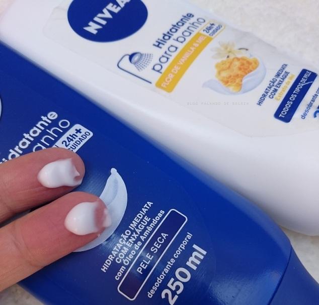 Hidratante-para-Banho-NIVEA-Milk-Vanilla-Mel-resenha