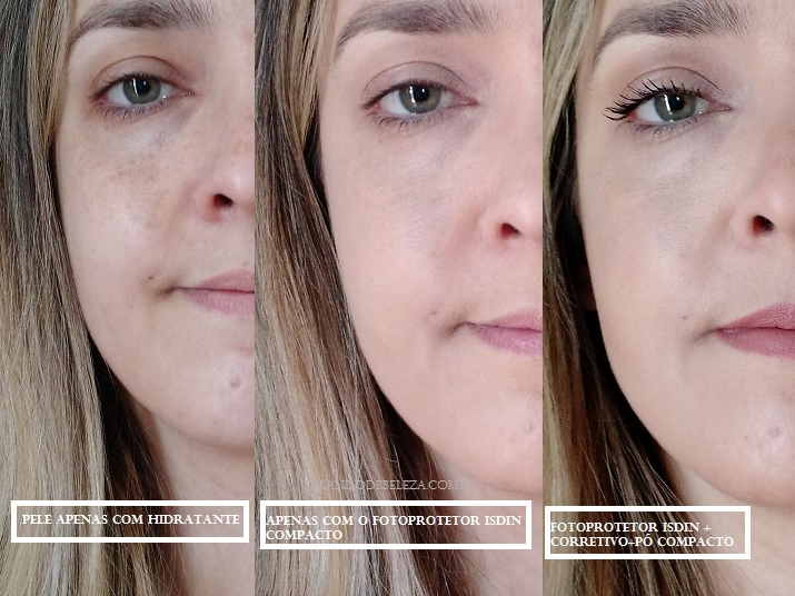 Fotoprotector-ISDIN-Compact-SPF50-antes-e-depois