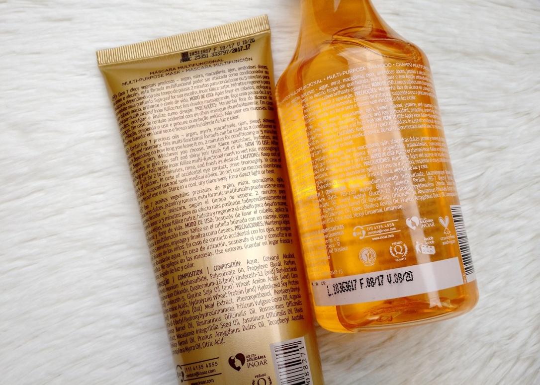 Kálice-Inoar-Resenha-Shampoo-Máscara-Composição