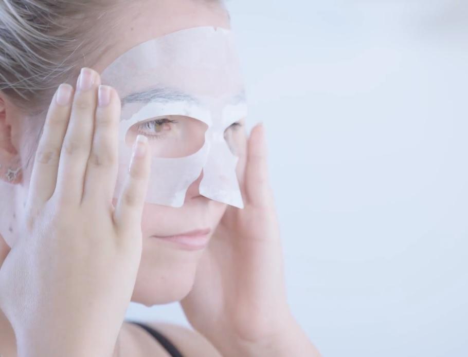 Máscara-facial-nanofibra-de-peixe-Anti-Aging-redução-de-rugas