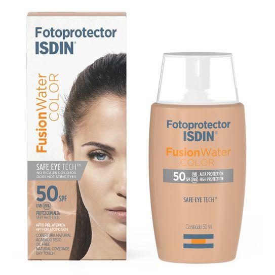 Protetor-Solar-Isdin-Fusion-Water-Oil-Control-FPS-50-com-cor